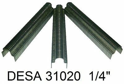 "1/4"" Cable Tacker Staples for DESA PowerFast Stapler - 31020 625pk."