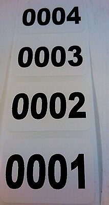1,000 Labels/Roll 1.5 x 1  Consecutive Number, Inventory stickers on C1S Paper
