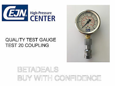 Hydraulic Test Gauge And Coupling For Test 20  - Made In Sweden