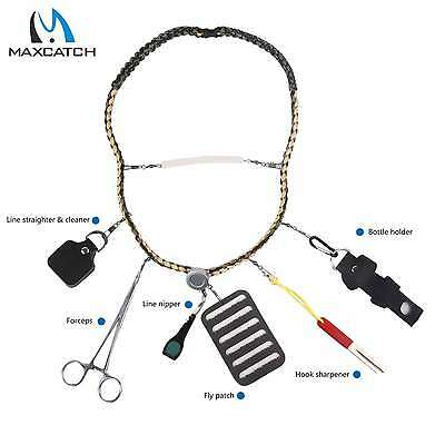 Maxcatch Fishing Lanyard Forceps Line Cleaner Nipper Patch Holder Fishing Tools