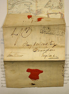 Ship Letter To Henry Van Wart - Brother-In-Law To Washington Irving Rare Letter