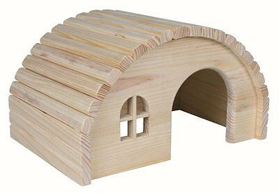 Trixie Natural Wooden Hamster Gerbil House Hide Hut Cage Accessory 29 17 20 cm