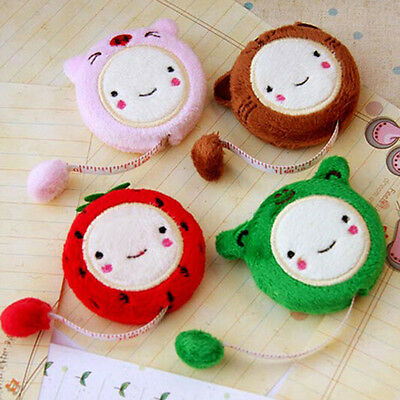 1.5m Long Cute Cartoon Tape Measure Retractable Flexible Sewing Rule 4 Colors