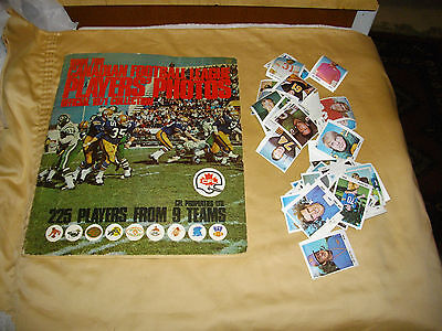 book for canadian football league players' photos 1971 lot book and photos