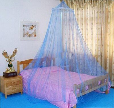 Mosquito Net Fly Insect Protection Bed outdoor Canopy Netting Curtain Dome Blue