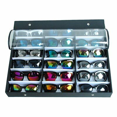 18-Slots Sunglasses Glasses Watches Jewellery Display Storage Case Tray Box