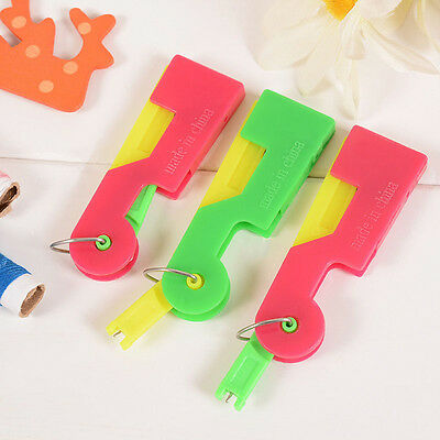 Random 1Pc Automatic Easy Sewing Needle Device Threader Thread Guide Tool Unisex