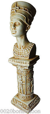 "Egypt Queen Nefertiti Pharaoh Figure Statue Ancient 8.5"" Mythology Sculpture 201"