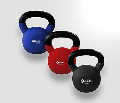BodyRip Neoprene Kettlebell Set 16,20,24 Kg Kettlebells Exercise Fitness Gym