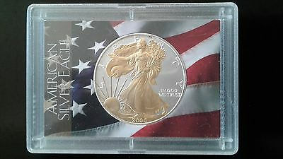 2006 Silver Eagle partly gold layered