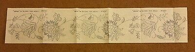 Vintage Embroidery Iron On Jacobean Flower Set Woman The National Home Weekly