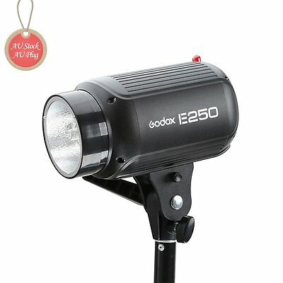 AU Godox E250 250W Mini Studio Flash Strobe Light Lamp Head for Photo Studio