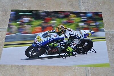 "Valentino Rossi Signed 12"" x 8"" Colour Photo MotoGP Yamaha VR46 (3)"