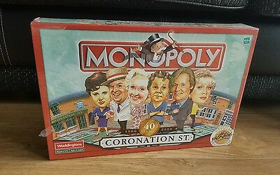 CORONATION STREET 40 YEARS MONOPOLY - Brand New Still Sealed Vintage Board Game