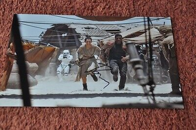 "Daisy Ridley Signed Star Wars The Force Awakens 12"" x 8"" Colour Photo"