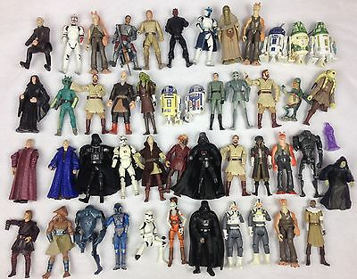 STAR WARS Collection Bundle Lot of 48 Figures Hasbro Kenner Some Rare & Bootlegs