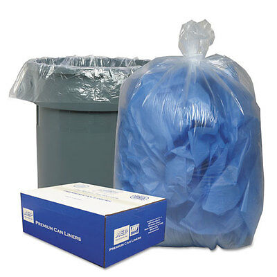 Classic Clear Clear Low-Density Can Liners, 31-33gal, .63 Mil, 33 x 39,...