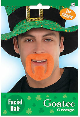 St Patricks Day Orange Goatee Beard Irish Dress up Fancy Dress costume accessory