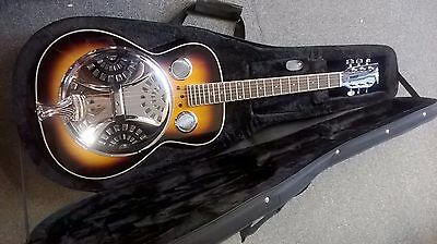 Countryman TCD-10R Resonator Acoustic Guitar, wooden body, WITH HARD-FOAM CASE!