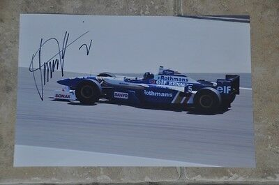 "Damon Hill Signed 12"" x 8"" Colour Photo Williams F1 Racing"