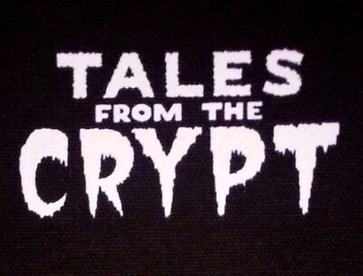 Tales from the Crypt PATCH canvas screen print HORROR - Cryptkeeper, Keeper, 80s