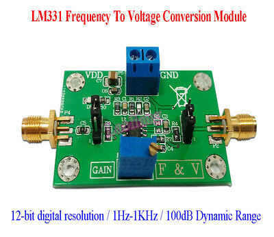 LM331 12-bit digital Precision Frequency To Voltage Conversion Module 1Hz-1KHz