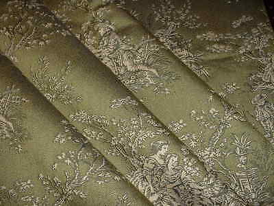 Vintage Portfolio Kravet French Country Cypres/Parchment Toile Upholstery Fabric