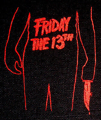 Friday the 13th - PATCH canvas screen print HORROR / Slasher - Jason Voorhees