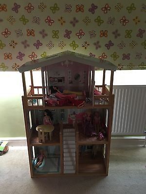 Large Luxurious Dolls house. With Furniture And Barbie Dolls. Collection Only.