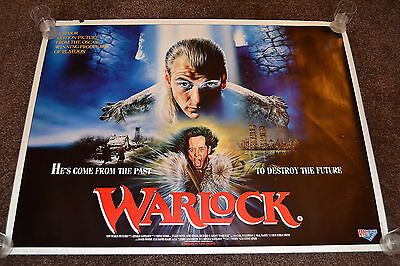 WARLOCK original cinema Poster 1989 UK quad fantasy horror