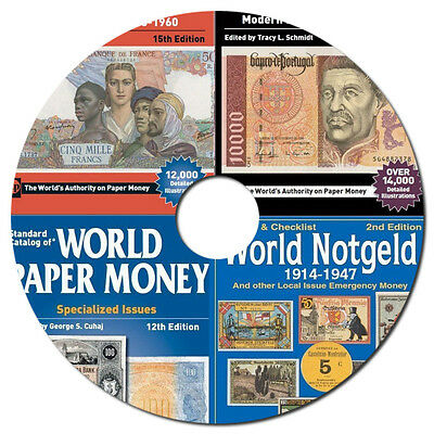 2017 Catalogs of World Paper Money 1368 - Present on DVD