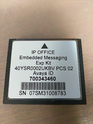Avaya IP Office Embedded VoiceMail 406V2/500 V1 Messaging CF card PN: 700343460