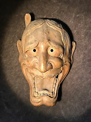 Antique NOH Hannya Mask With Box