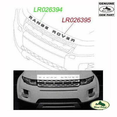 """Land Rover Front Hood Decal Badge Sticker Silver """"Range Rover"""" Evoque Oem"""