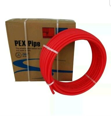 "1/2"" x300ft Pex Tubing Oxygen Barrier O2 EVOH Red 300 ft Radiant Floor Heat"