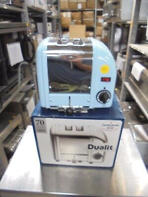 Commercial Catering New 2 Slot Dualit D2BMHA Toaster Glacier Blue K3766