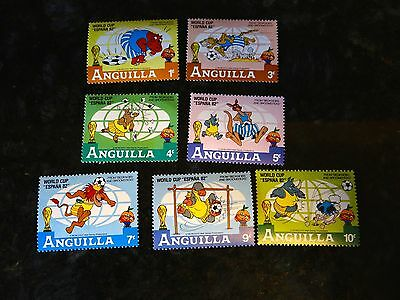 Set 7 Anguilla 1982 World Cup Espana Bedknobs and Broomsticks Stamps
