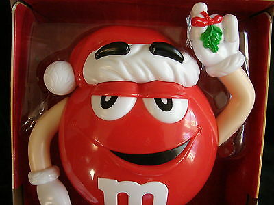 2015 ~ Limited Edition M&M's Red ~ Christmas Candy Dispenser ~ Mistletoe ~ NEW
