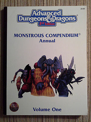 Monstrous Compendium Annual Volume One (2nd)- 2e Adv Dungeons & Dragons AD&D TSR