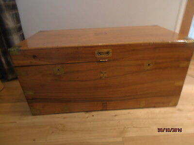 Victorian Antique Camphor Wood Blanket Box Campaign Chest Camphor Trunk