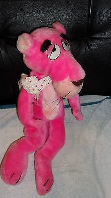 Pink Panther The Lover 1980 Plush Poseable Stuffed Animal Toy United Artists