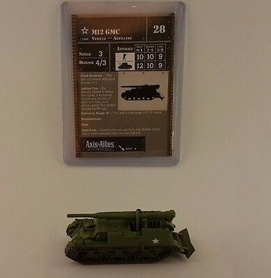 Axis and Allies Eastern Front M12 GMC 15MM WW2 Miniature