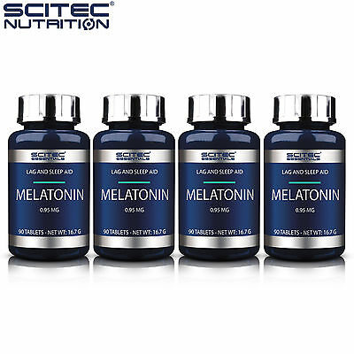 Melatonin 90-450 Tablets Natural Sleep Aid Improve Stress Relief Antioxidant
