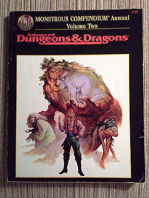 Monstrous Compendium Annual Volume Two - 2e Advanced Dungeons & Dragons AD&D TSR
