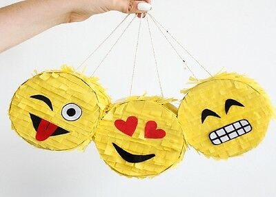 3 Mini Emoji Pinatas Sweets Birthday Party favours gifts Can be personalised
