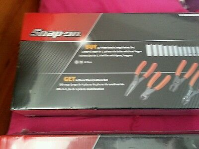 Snap On Pliers Set Plus 10 To 19Mm Sockets Orange In Colour