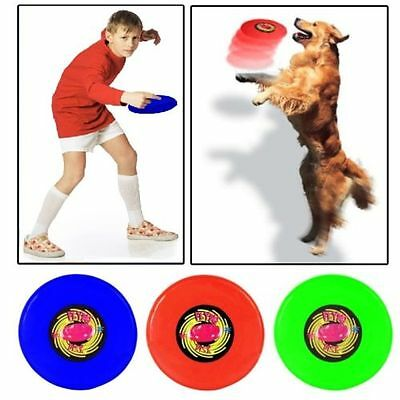 """Frisbee Colored Plastic Flying 10 """" Disc Outdoor Dog Kids Throw Summer Game Toys"""