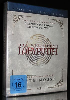 BLU-RAY DAS VERLORENE LABYRINTH - 3-Disc COLLECTOR'S EDITION - JOHN HURT * NEU *