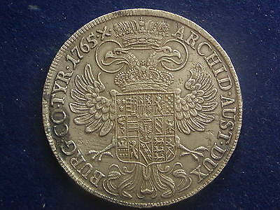 """Taler 1765  Maria Theresia Hall RDR  """" Variante  DG """" W/16/1079"""