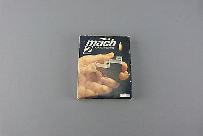 Briquet MACH2 Electronic BROWN en boite vintage W.GERMANY German lighter.
